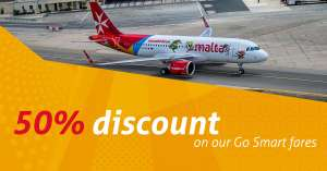 Air Malta up to 50% flash sale on Go Smart fares
