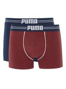 PUMA'S Red and Blue Trunks 2 Pack for £4.50 with discount code + free C&C @ Topman