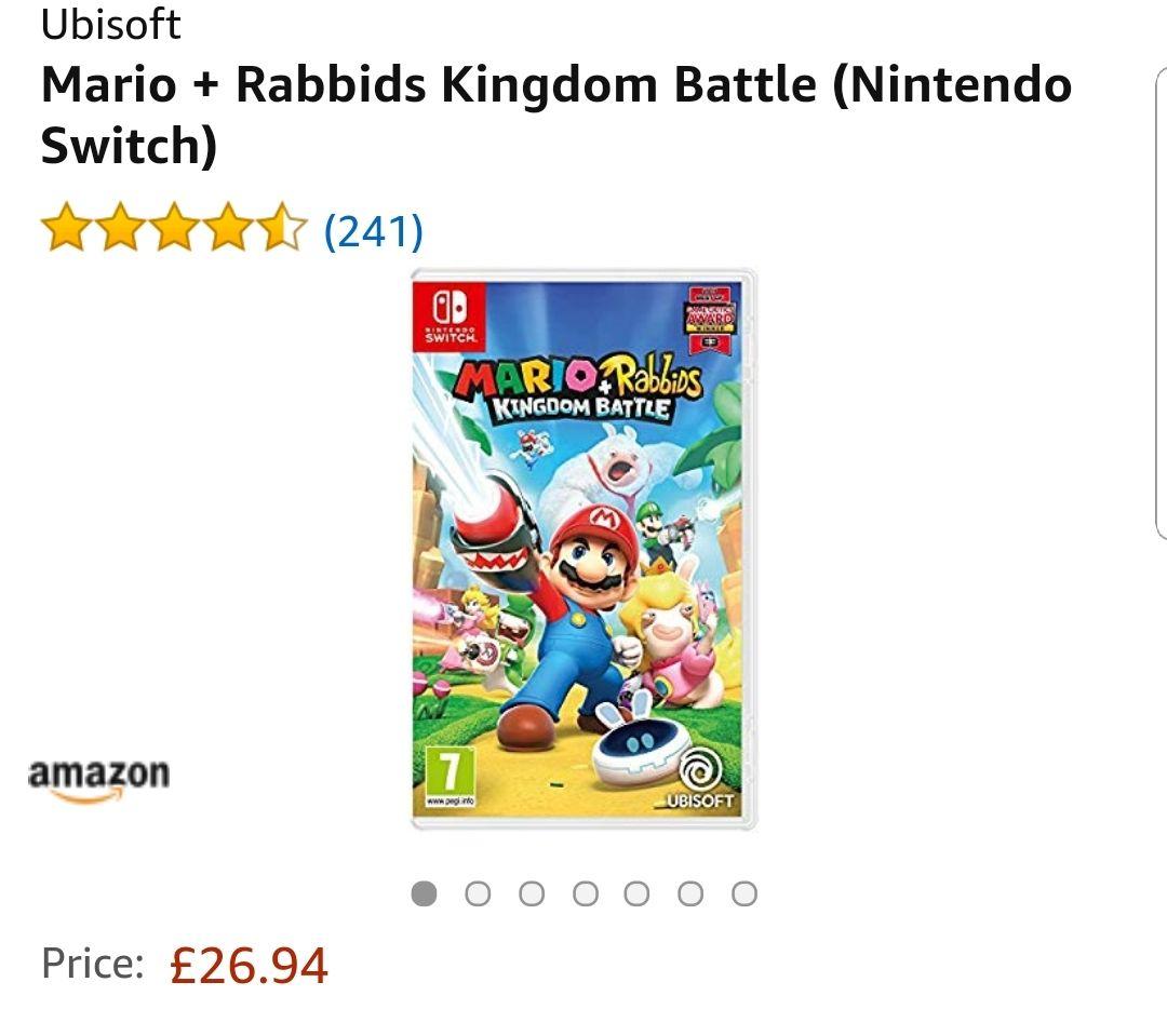 Mario + Rabbids kingdom battle £26.94 via amazon and prime now (+£3.99 Delivery) Total = £30.95