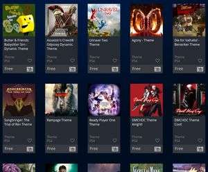 all newly released free themes for playstation devices ps3 ps4 psv