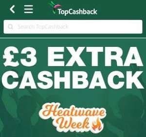 £3 cashback when you spend £5 at Topcashback