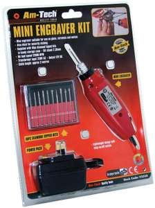 Am-Tech Mini Engraver Kit 12000rpm £8.92 with code at  CarParts4Less. Free delivery by DHL. PayPal accepted. Good reviews on Amazon