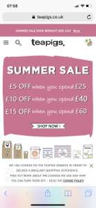 Teapigs Summer Sale - (+ £3.50 Delivery or  FREE over £35.00)