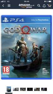 God of war (preowned) PS4 sold by musicMagpie via amazon - £29.74