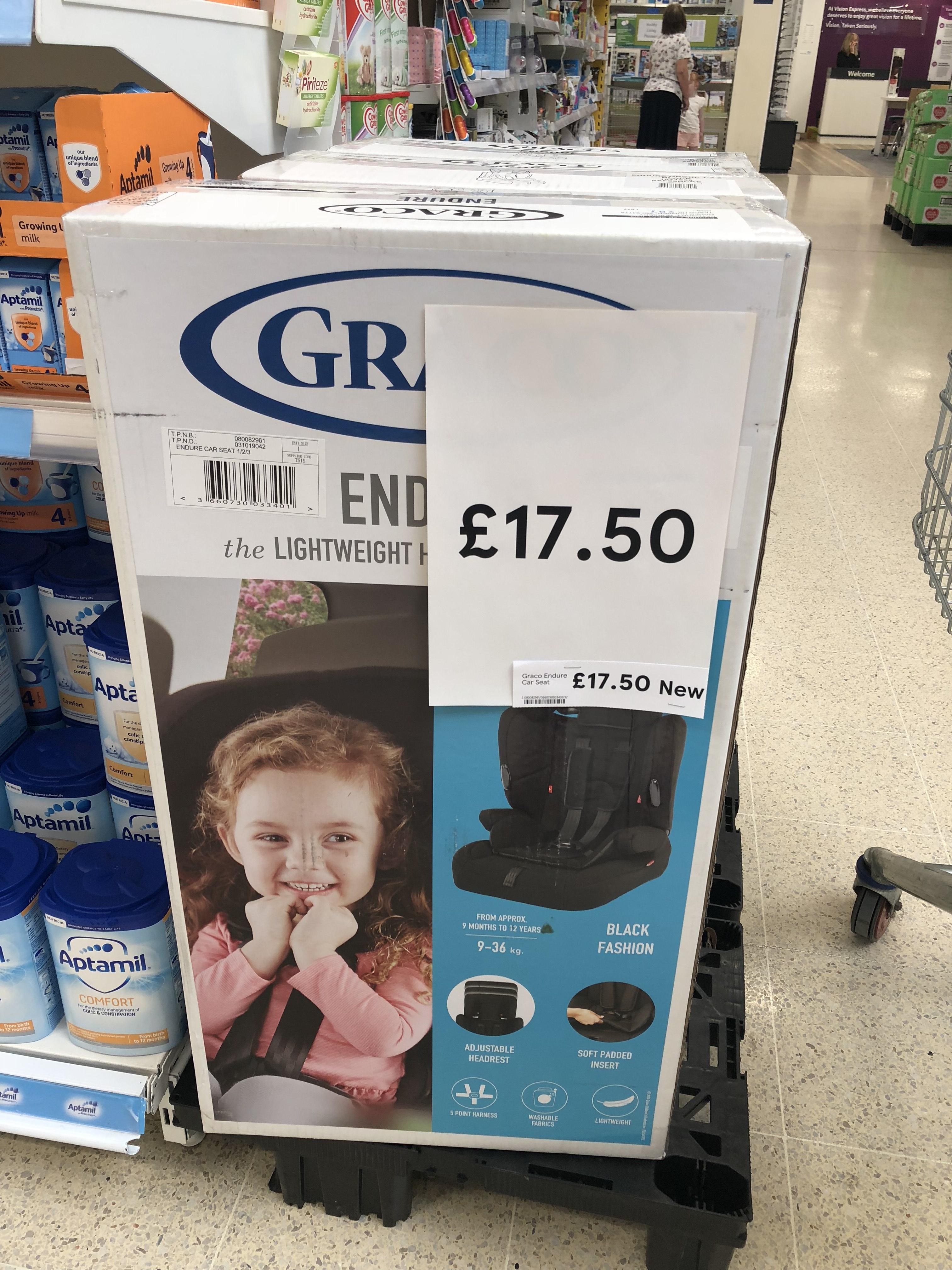 Graco car seat £17.50 instore at tesco Crewe