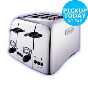 DeLonghi Argento 4 Slice Wide Slot Toaster Argos Ebay Free C&C - £29.99