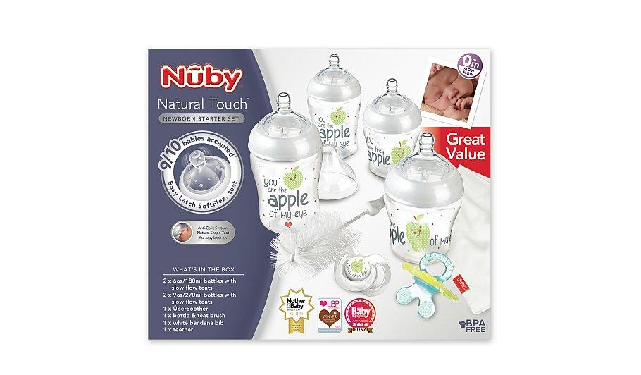 8 piece Nuby Natural Touch: Easy latch Newborn Starter set now £12 & 100% money back guarantee**@ Asda C+C