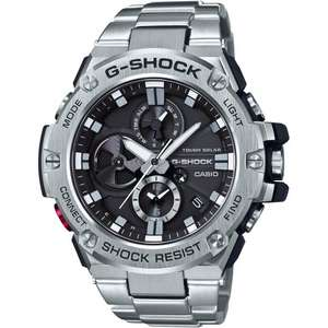 MENS CASIO G-STEEL BLUETOOTH TRIPLE CONNECT CHRONOGRAPH RADIO CONTROLLED WATCH GST-B100D-1AER WAS £349 NOW £234.90 WITH CODE at The Watch Hut