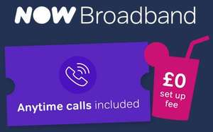 Fab Fibre 36mb with free anytime calls £25pm Plus £9.99 postage No Setup Cost or New Line Cost @ Now TV