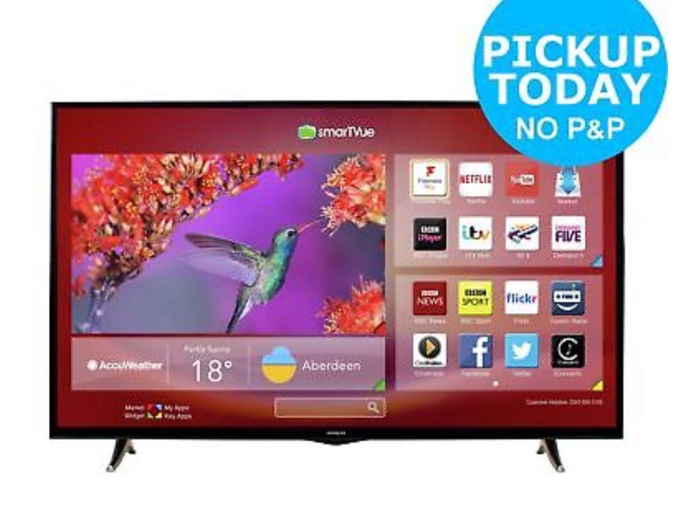 Hitachi 50 Inch Full HD 1080p Freeview Play Smart WiFi LED TV £255.00 w/ code PERFECTDAY @ARGOS EBAY (using US method)