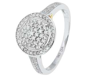 Revere 9ct White Gold 0.50ct tw Diamond Halo Ring, Less Than Half Price, £74.99 In Store @ Argos