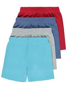 Assorted Jersey Shorts 4 Pack - £5 @ Asda (free C&C)
