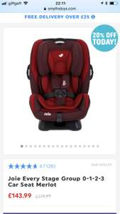 Joie groups 0-1-2-3 car seat - £143.99 @ Smyths