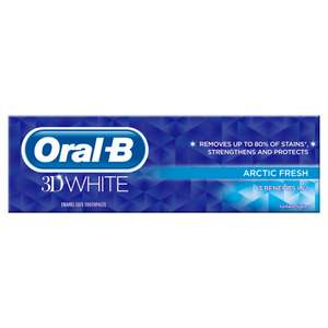 Oral-B 3D White Arctic Fresh Toothpaste 75ml For £1.50 @ Iceland.