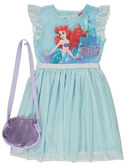 Disney Princess Ariel 2 piece set : layered dress & clam shell shaped bag ages upto 3 yrs £8 @ Asda