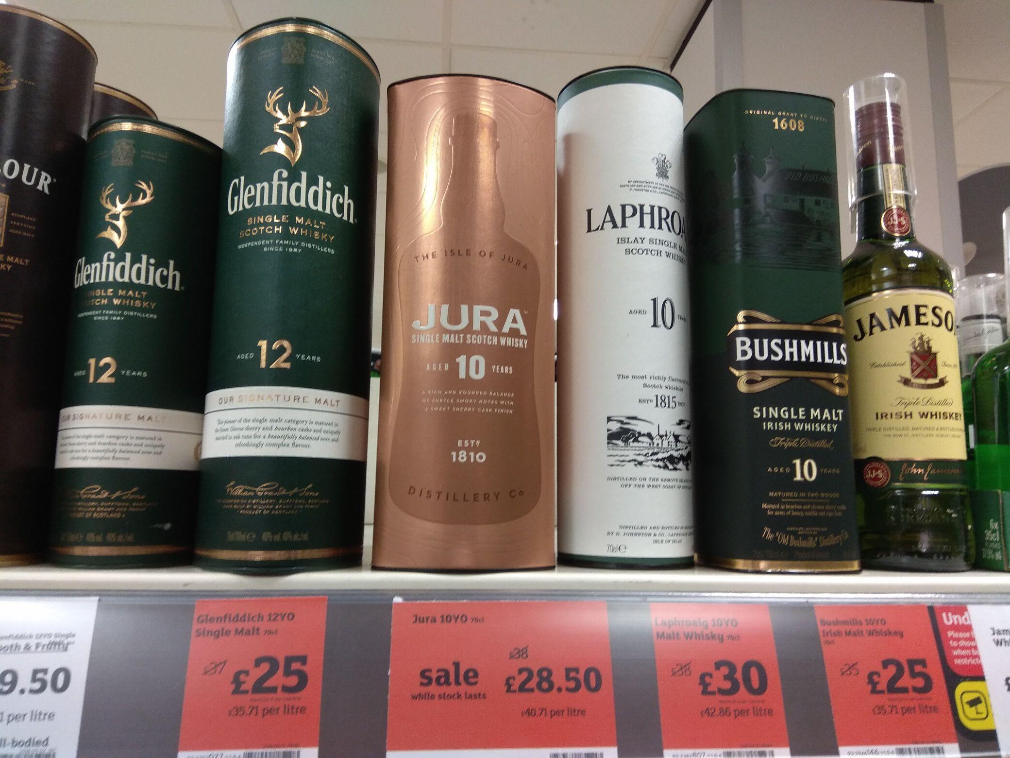 Glenfiddich 12 year old Single malt 70cl whisky - £25 @ Sainsbury's