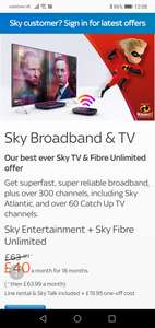 Sky fibre unlimited and sky Q sale - £40/month for 18 months + £19.95 one-off line rental (£739.95 total)