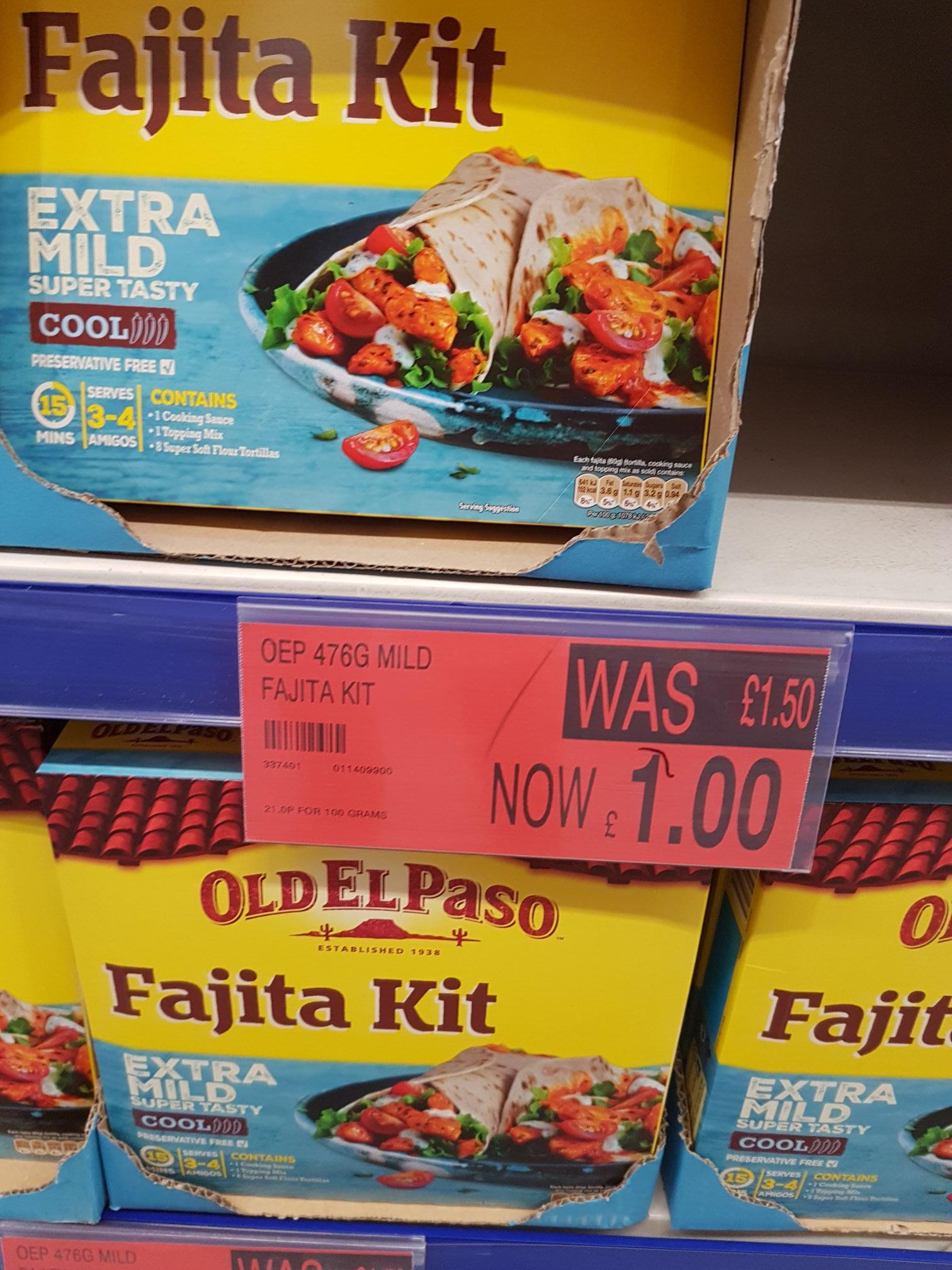 OLD EL PASO Fajita Kit £1 instore @ B&M!!