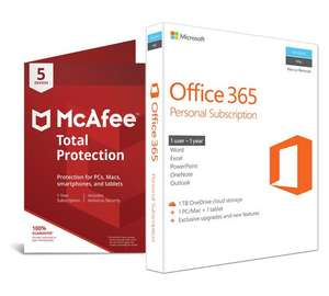 Microsoft office 365 personal & Mcafee protection - £49.99 @ Argos