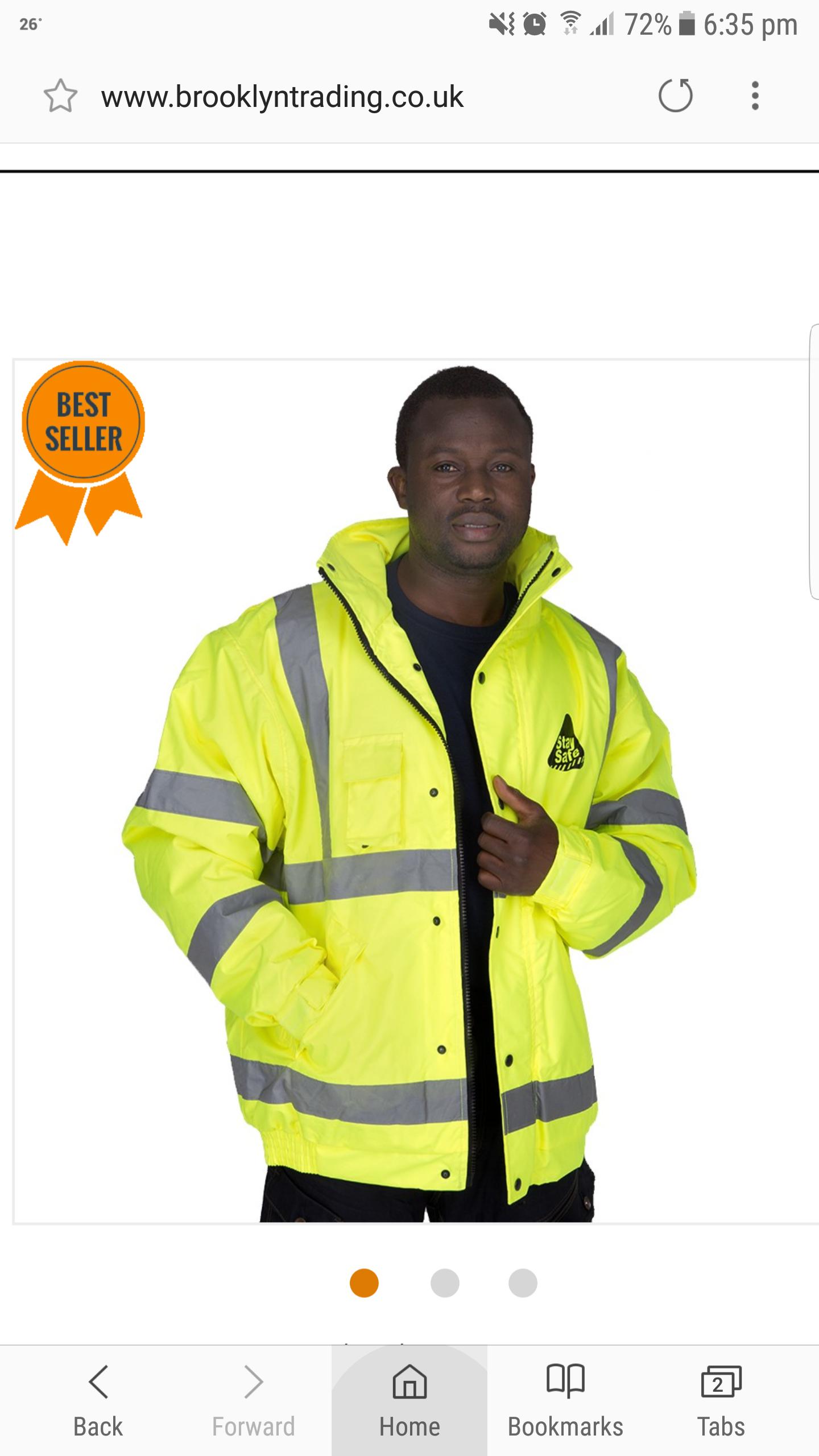 Hi vis Jacket coat XXL £6.99 @ Brooklyn Trading £3.99 delivery