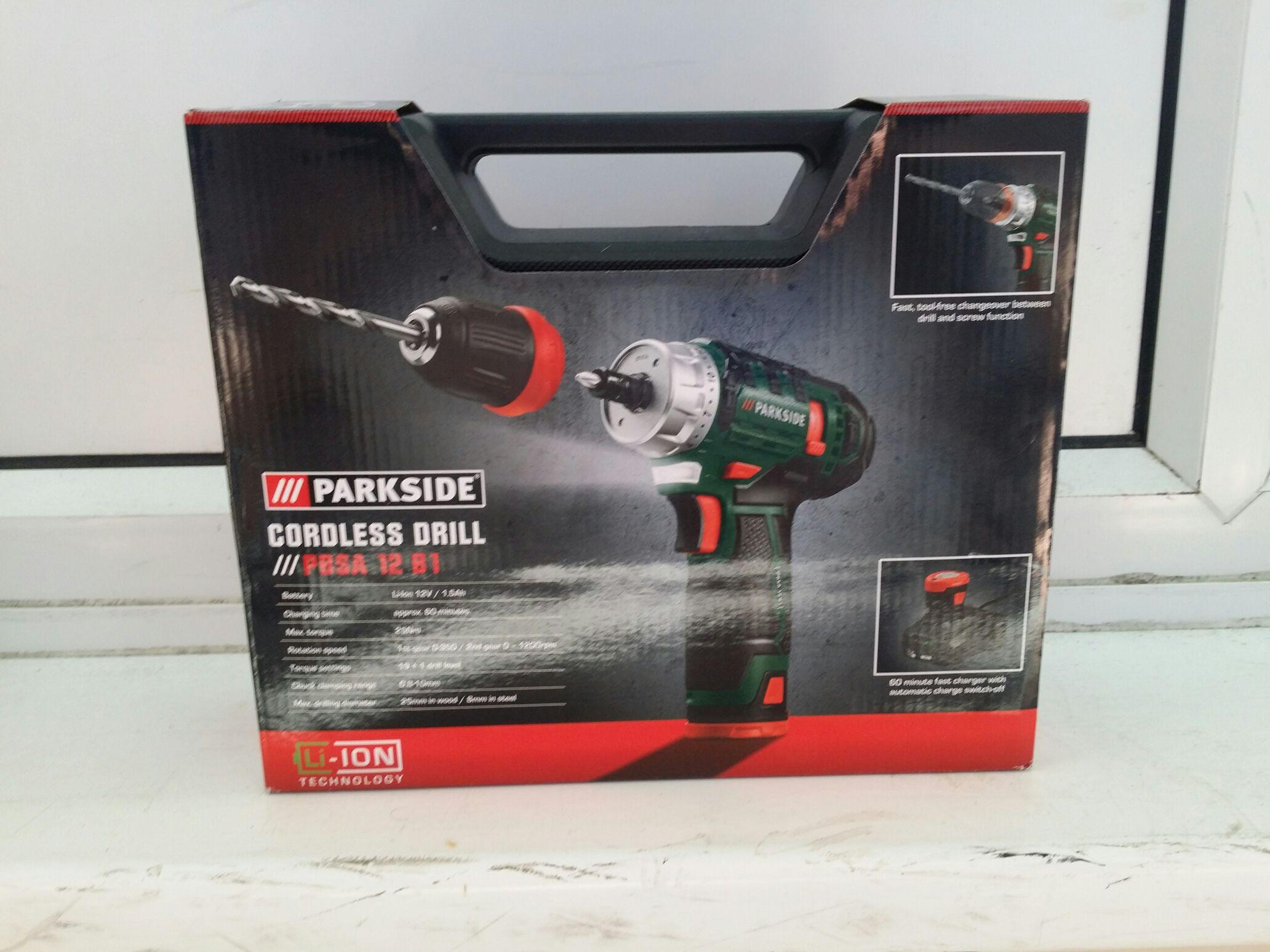 Parkside cordless drill 12v - £16.99 instore @ LIDL (Bedford)