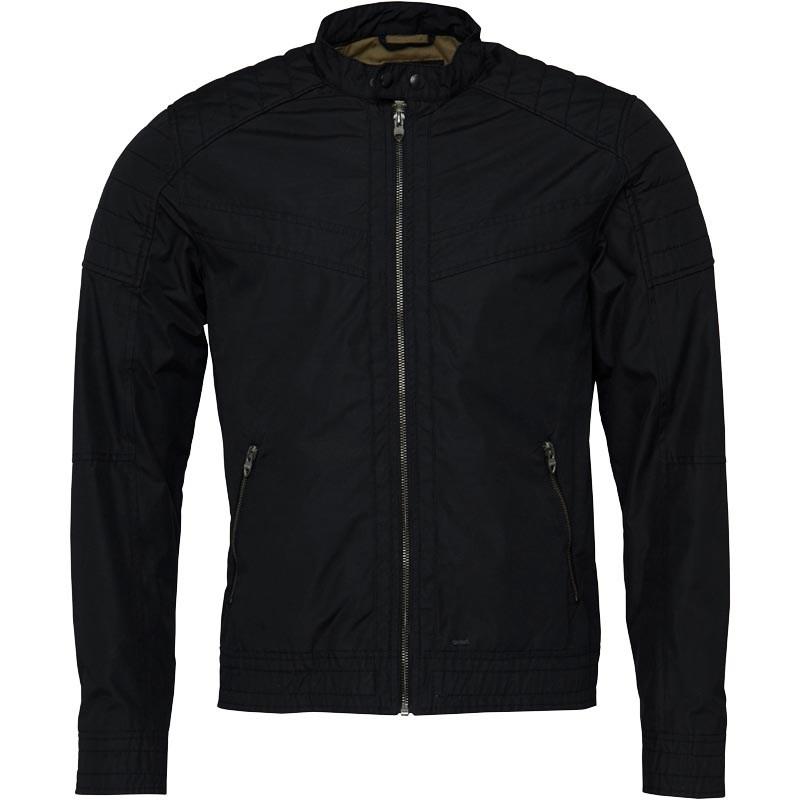 JACK AND JONES Mens Liam Biker Jacket Caviar size M £17.98 delivered @ M&M direct