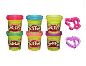 Set of 6 sparkly play-doh tubs with accessories £1.99 from Argos