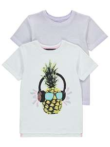 X2 assorted t shirts ages 5-8 yrs now £3 @ Asda C+C