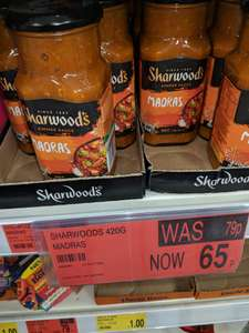 Sharwoods Madras Cooking Sauce 65p @ B&M