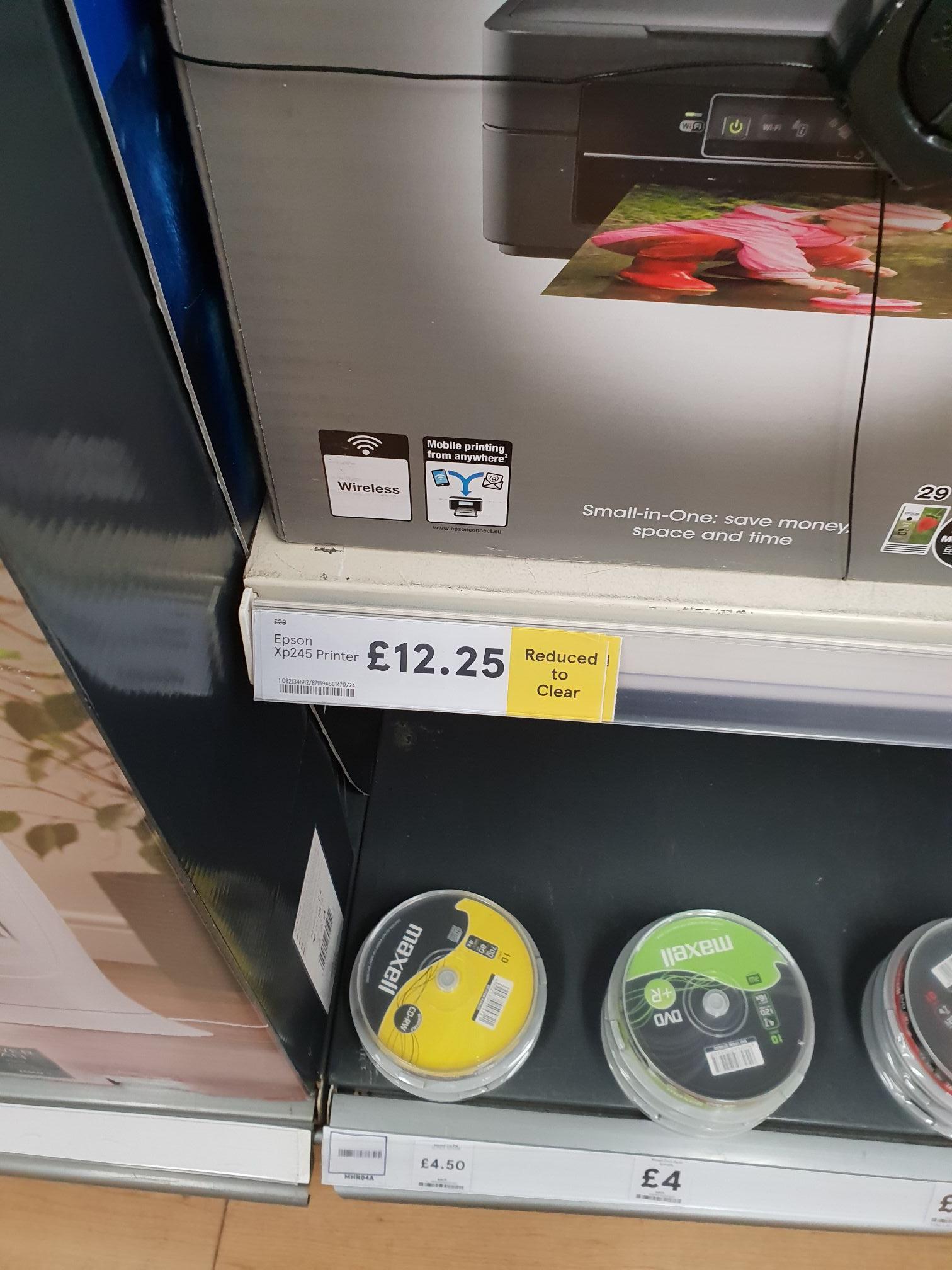 Epson Printer Xp245 £12.25 Tesco national