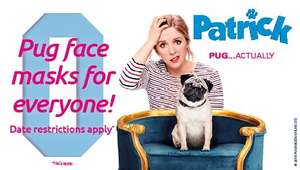 """Free pug mask when you book to see """"Patrick"""" at Odeon cinemas"""