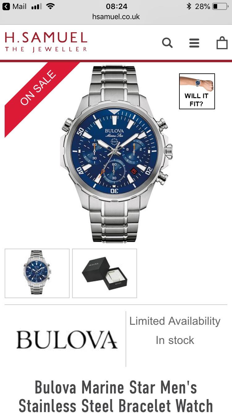Bulova Marine Star Watch H Samual £165
