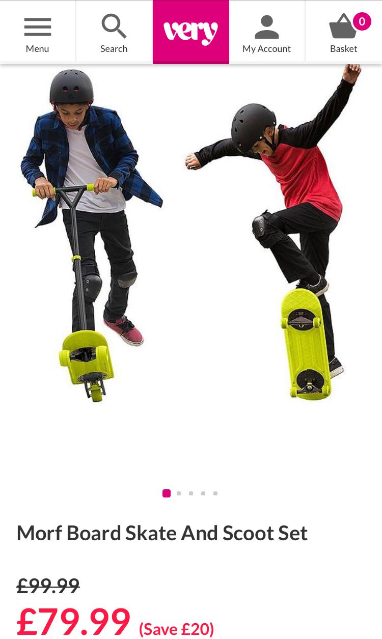 Morf Board (Skateboard & Scooter) £79.99 @ Very