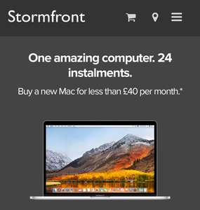 24 Months Interest Free - Across Most Mac Range @ Stormfront