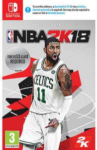 NBA 2k18 for Nintendo Switch (used) 11.67 @musicmagpie