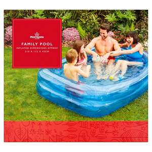 "Morrisons 2 Ring Rectangular Family Pool (83"" x 52"" x 18"" (210cm x 132cm x 45cm) was £17.99 now £6 instore / Online"