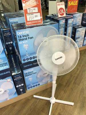 "Pedestal  3 Speed 16"" Fan £14.99 instore @ T J Hughes Middlesbrough"