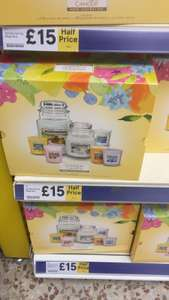 Home Inspiriations candle set half price at Tesco £15 instore / online