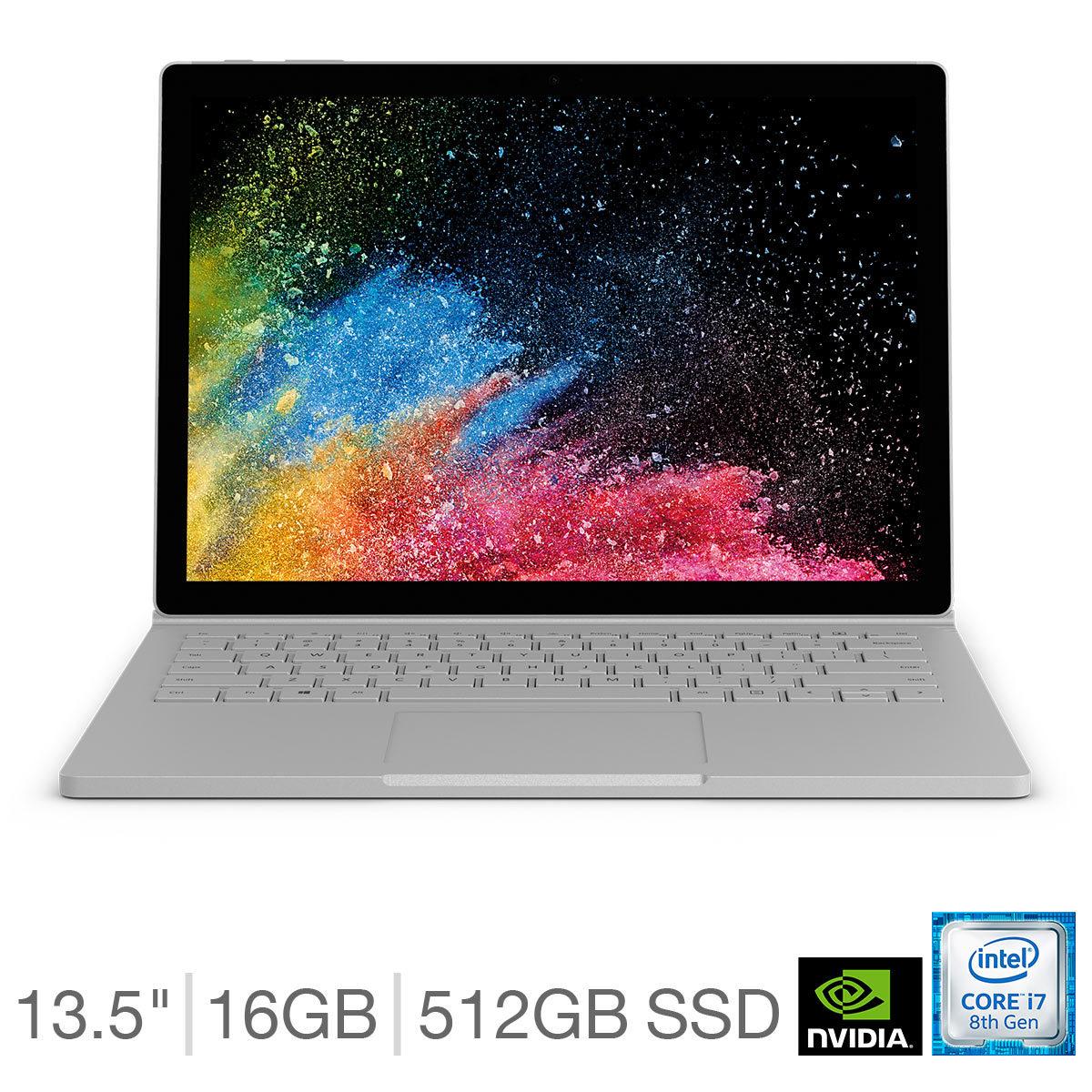 "Microsoft Surface Book 2 13.5"" i7-8650U, 16GB RAM, 512GB SSD @ Costco Online"