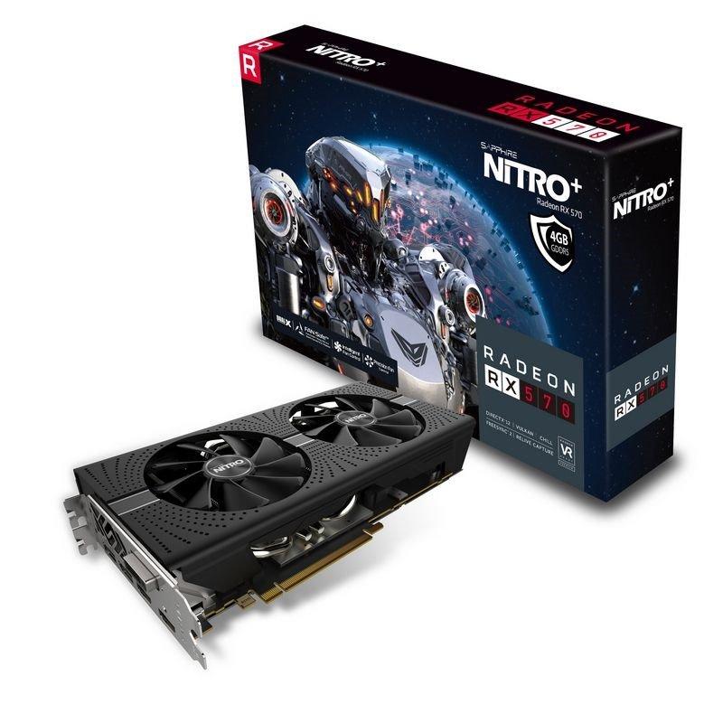 Sapphire Radeon RX 570 NITRO+ 4GB Graphics Card £199.99 @ CCL