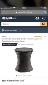 Keter Pacific Rattan Style Outdoor Cool Bar £39.95 @ Amazon