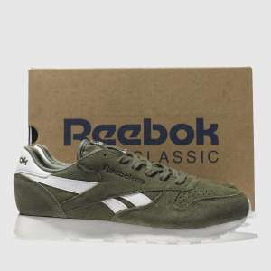 Reebok Khaki Classic Leather Suede Trainers £29.99 was £58.00  SAVING 48%  with free delivery* @ Schuh