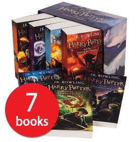 The Complete Harry Potter Collection - 7-Book Box Set Delivered for £21 w/code @ The Book People