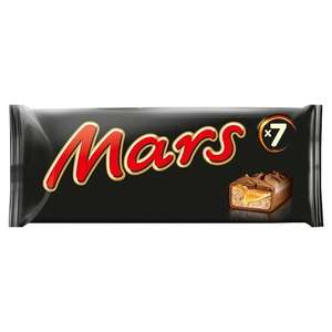 Mars 7 Pack 275.8G £1.25 // Snickers 7 Pack 291.9G £1.25 // Twix Chocolate Multipack 7 X50g £1.25 from 4/7 @ Tesco