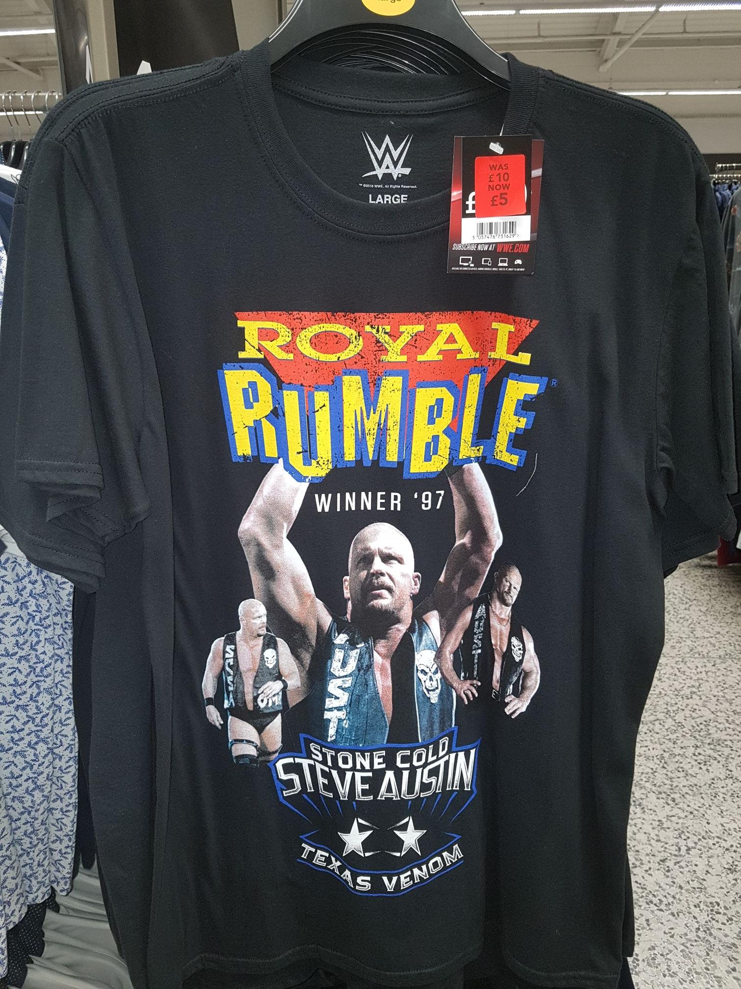 WWE royal rumble stone cold t shirt £5 @ Asda