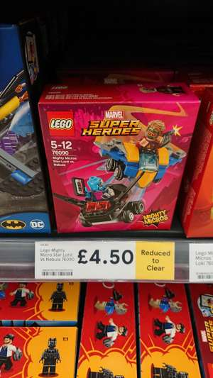 LEGO 76090 Mighty Micros star Lord vs nebula Down to £4.50 instore at Tesco Extra