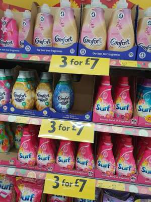 Surf washing liquid £4 each or 3 for £7 @ Morrison's