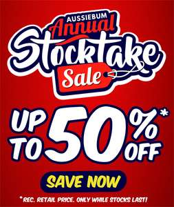 Aussiebum - Annual Stocktake Sale - up to 50% off  - FREE Shipping!