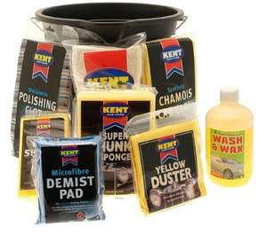 Kent Car Care Gift Wash Bucket Set. Free DHL delivery £10.39 CarParts4Less