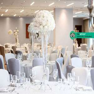 Complete wedding package for 60 day / 100 evening guests with 3 course meal, DJ and bridal suite in 4 star Liverpool Hilton Hotel £2499 @ Living Social